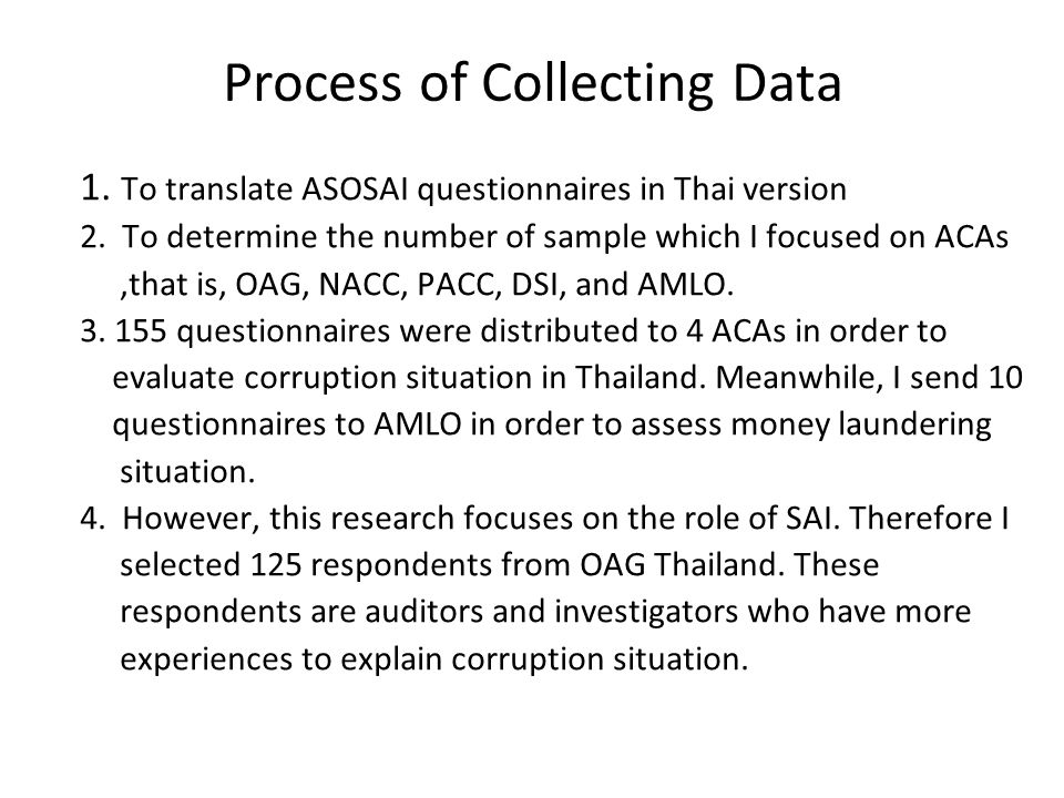 Process of Collecting Data