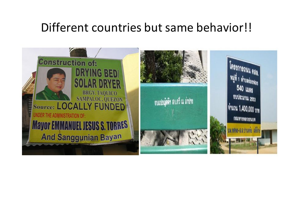 Different countries but same behavior!!