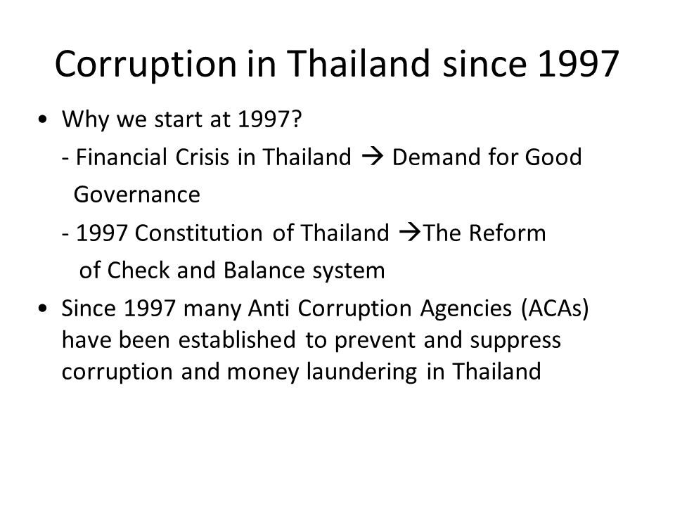 Corruption in Thailand since 1997