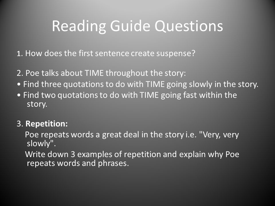 Reading Guide Questions