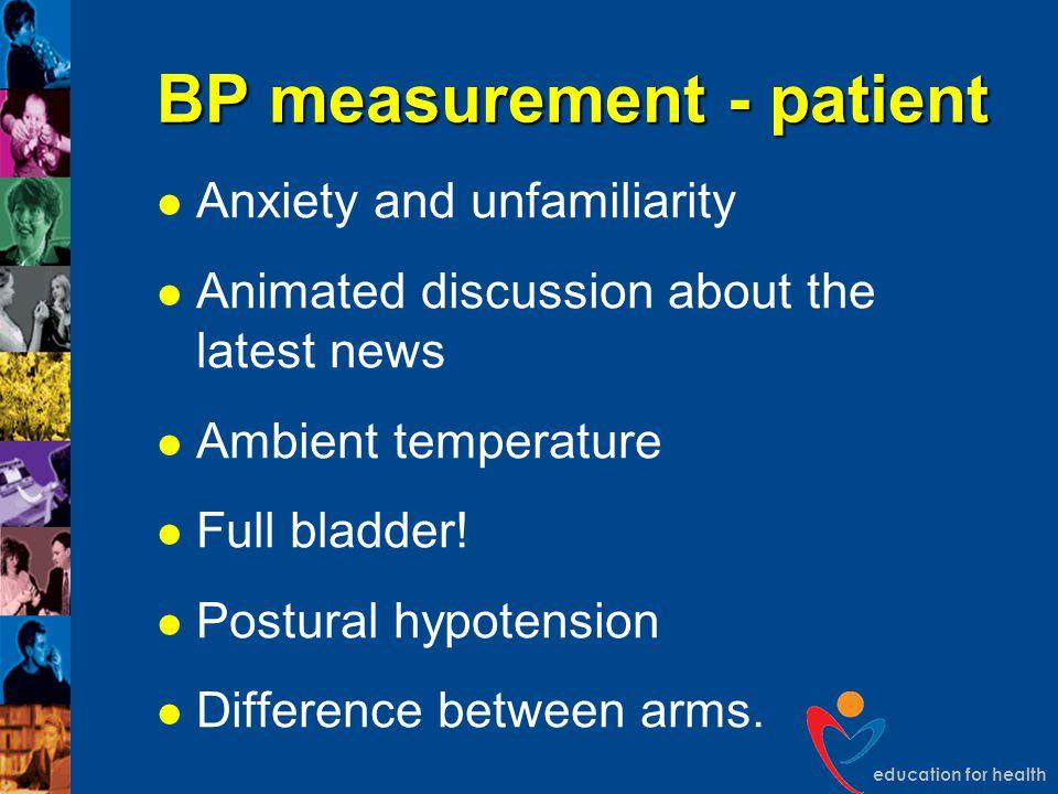 BP measurement - patient