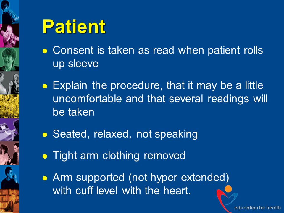 Patient Consent is taken as read when patient rolls up sleeve