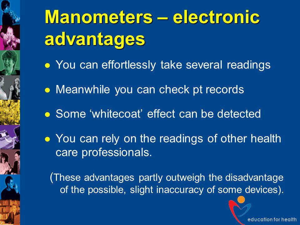 Manometers – electronic advantages