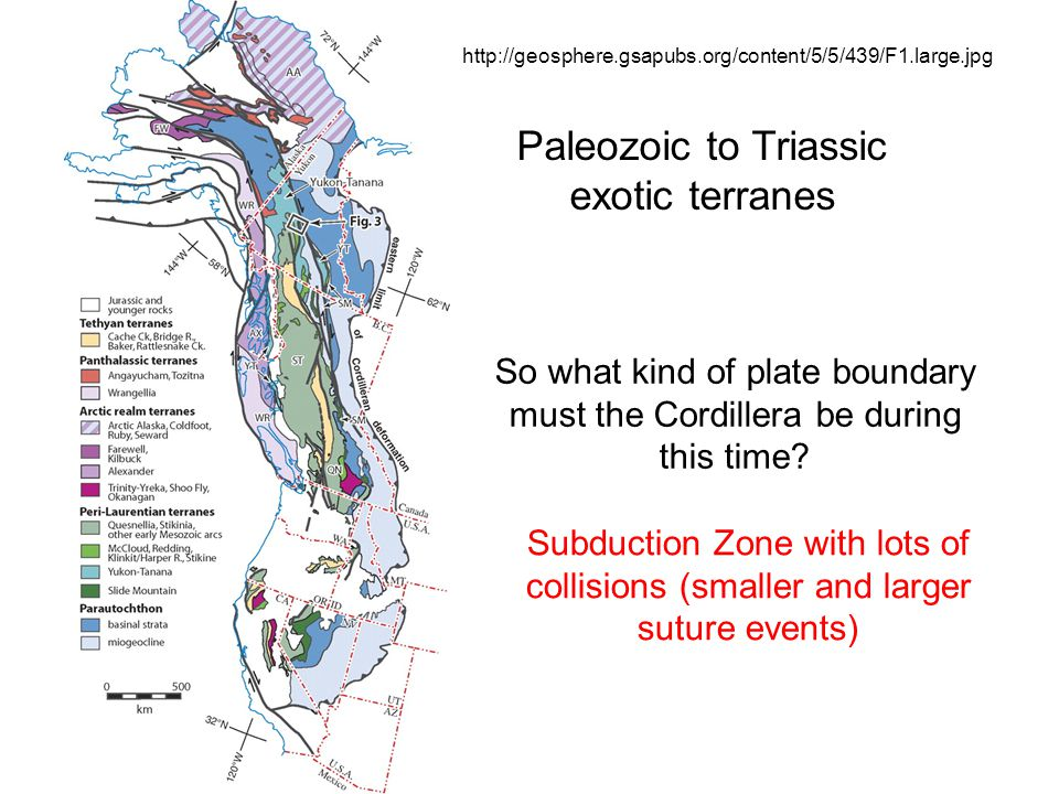 Paleozoic to Triassic exotic terranes