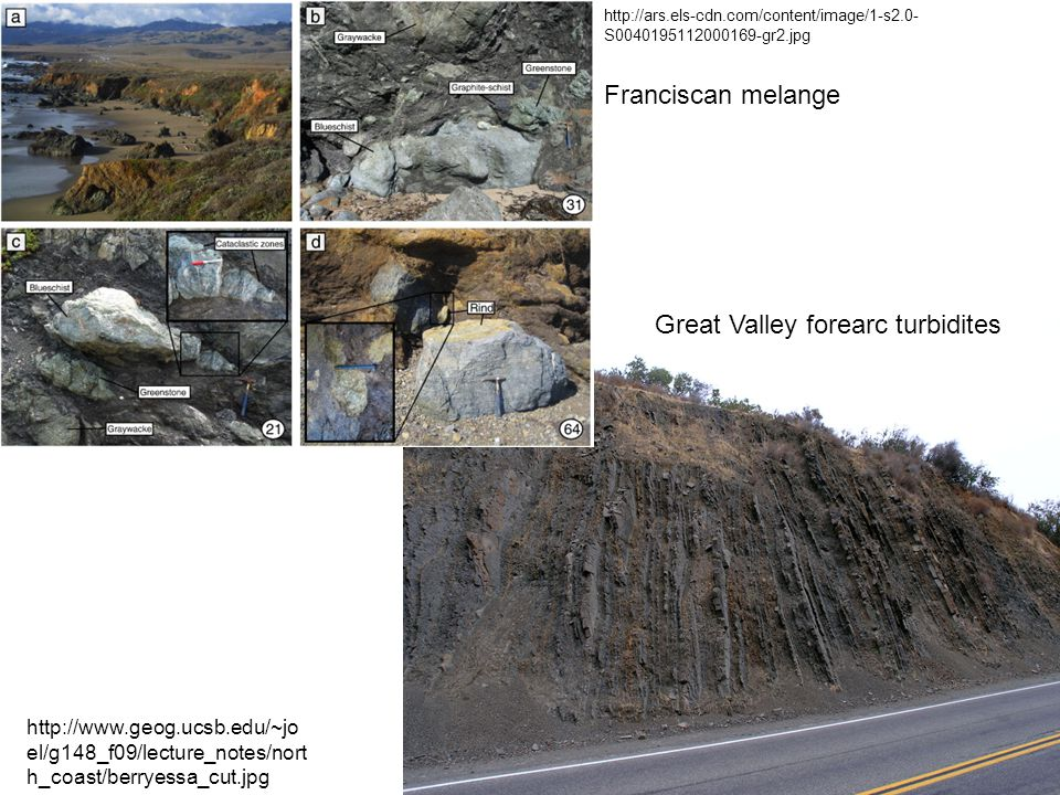 Great Valley forearc turbidites