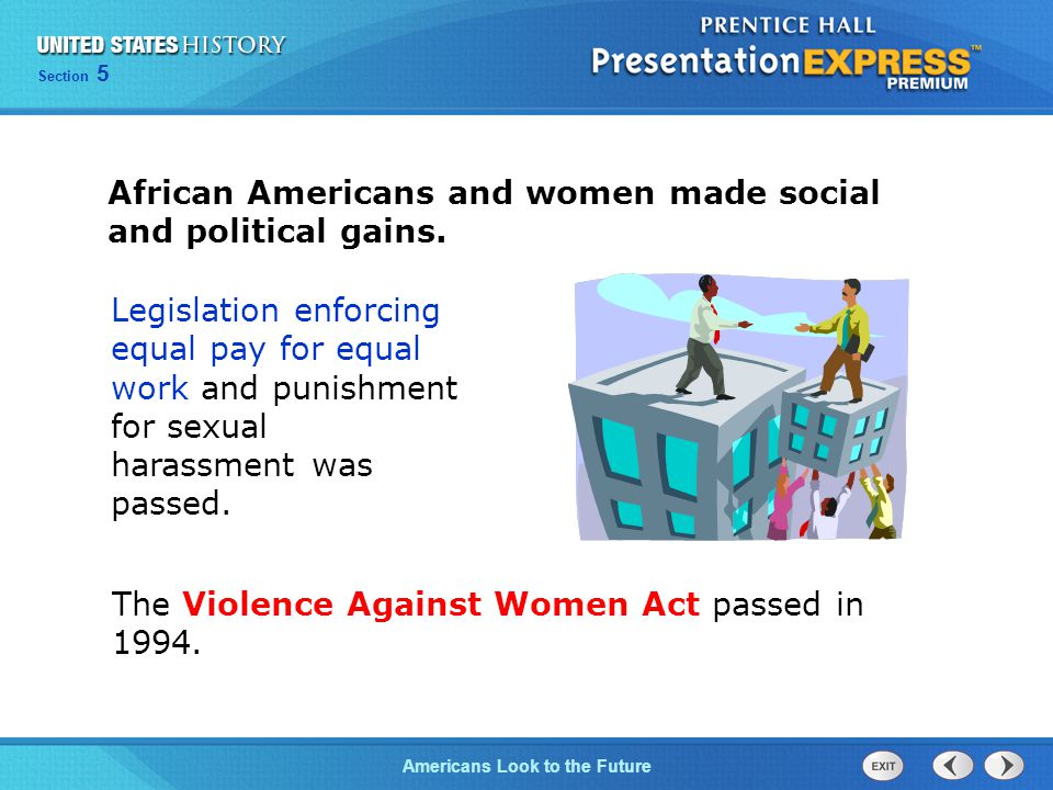 African Americans and women made social and political gains.