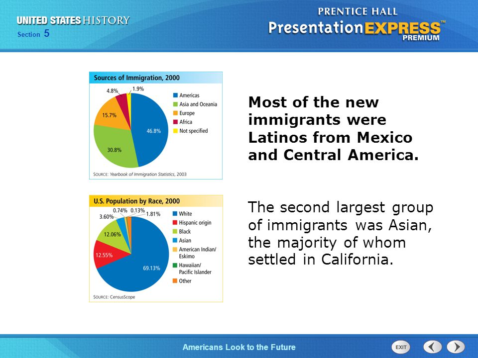 Most of the new immigrants were Latinos from Mexico and Central America.
