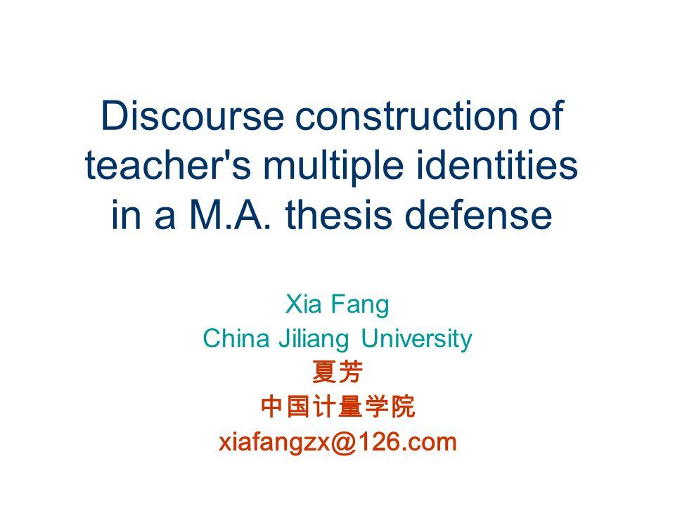 Xia Fang China Jiliang University 夏芳 中国计量学院 xiafangzx@126.com