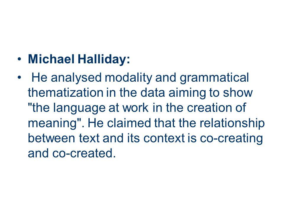 Michael Halliday: