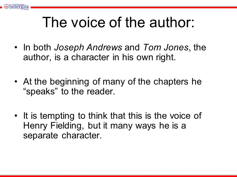 The voice of the author: