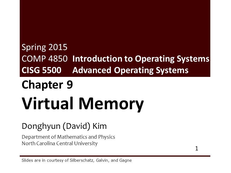 Virtual Memory Chapter 9