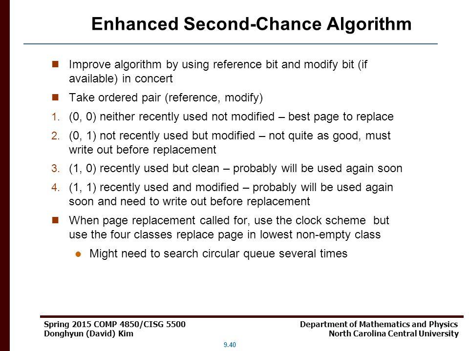 Enhanced Second-Chance Algorithm