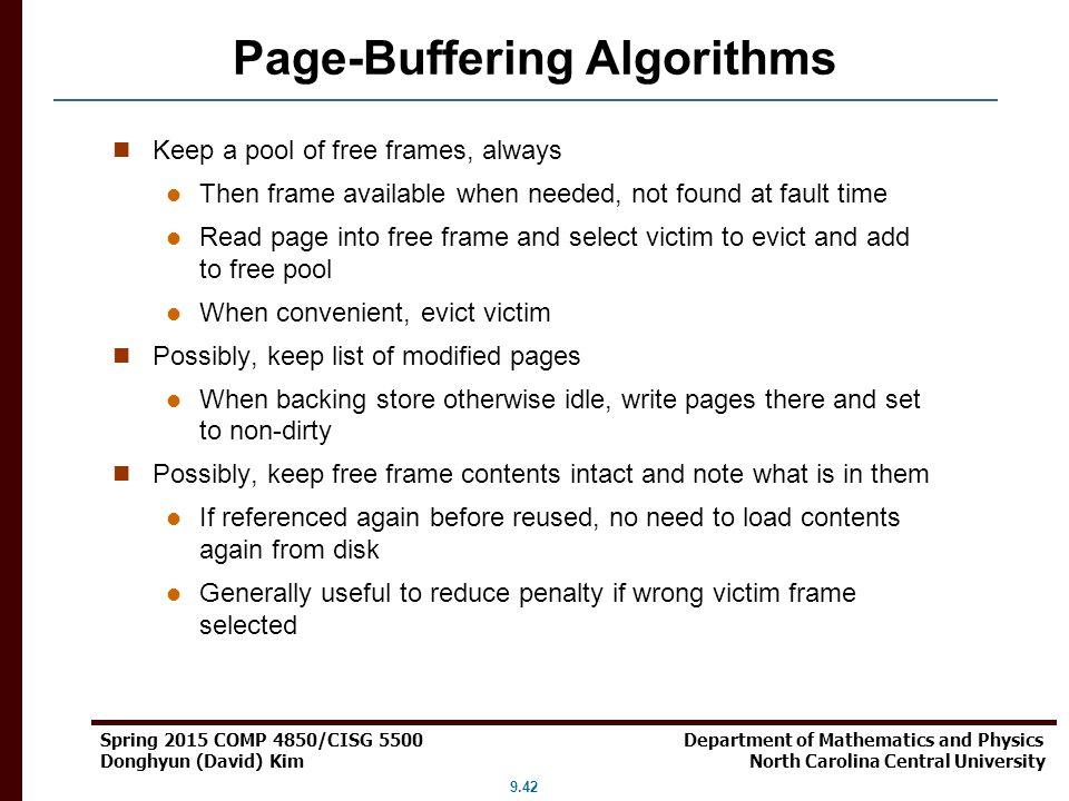 Page-Buffering Algorithms