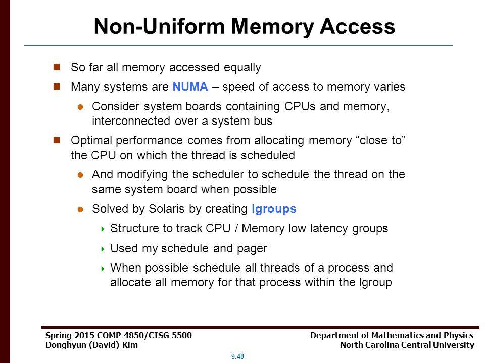 Non-Uniform Memory Access