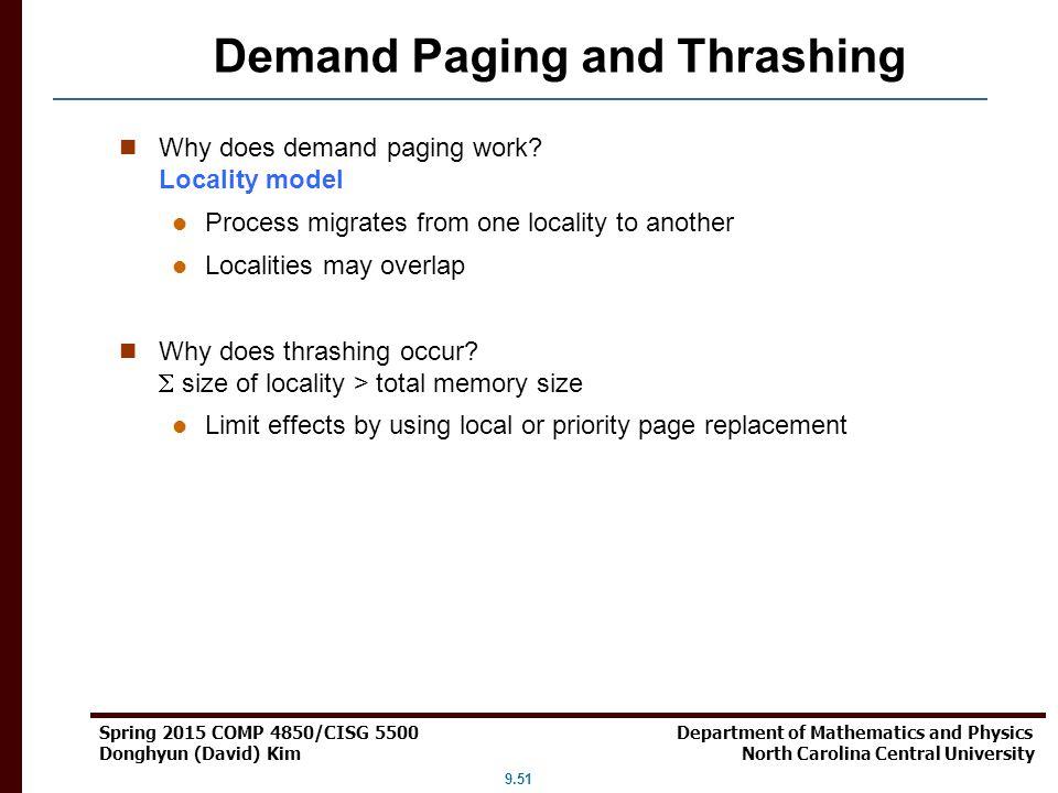 Demand Paging and Thrashing
