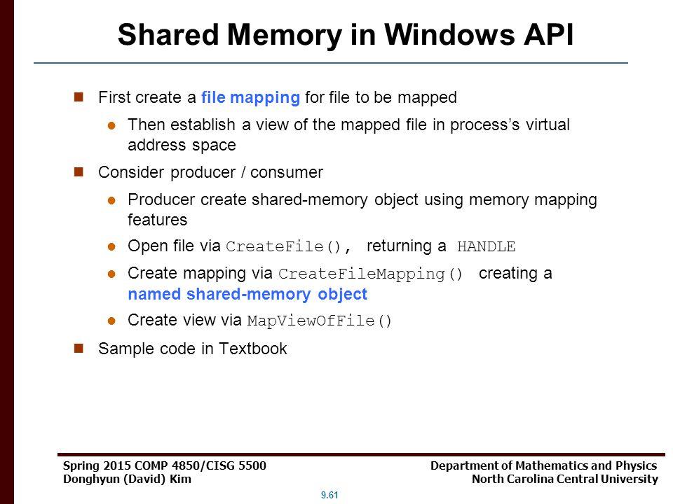 Shared Memory in Windows API