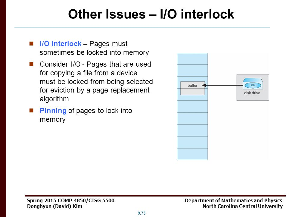 Other Issues – I/O interlock