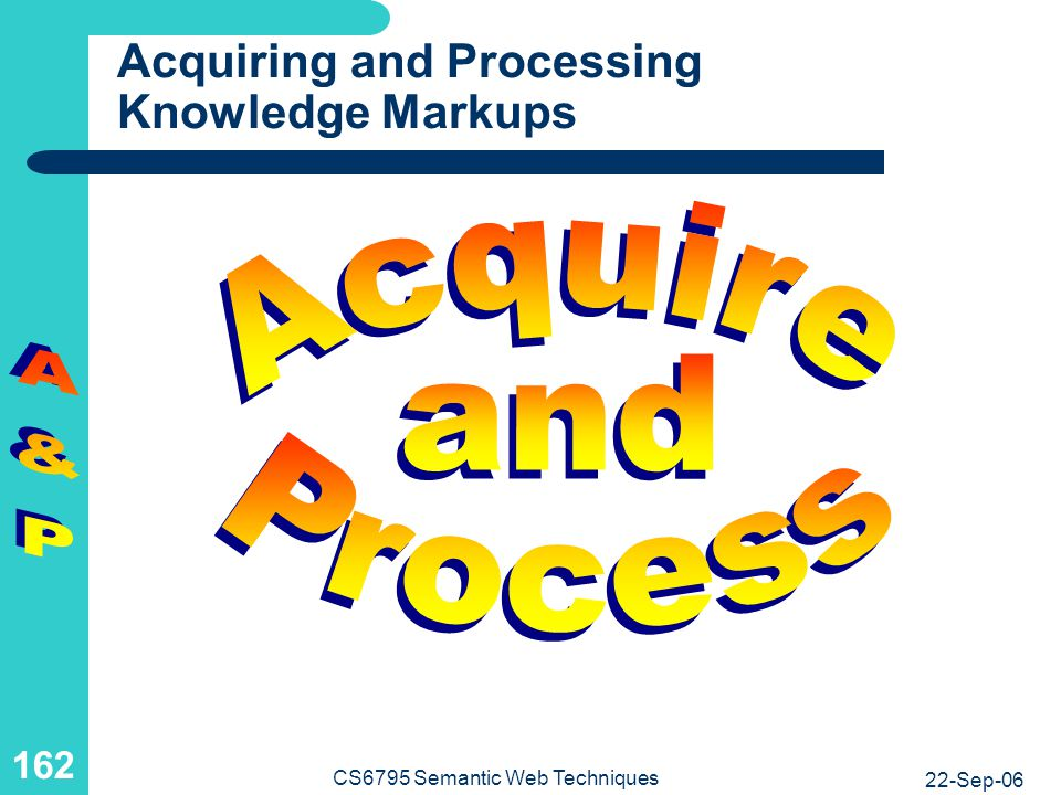 Acquiring and Processing Knowledge Markups