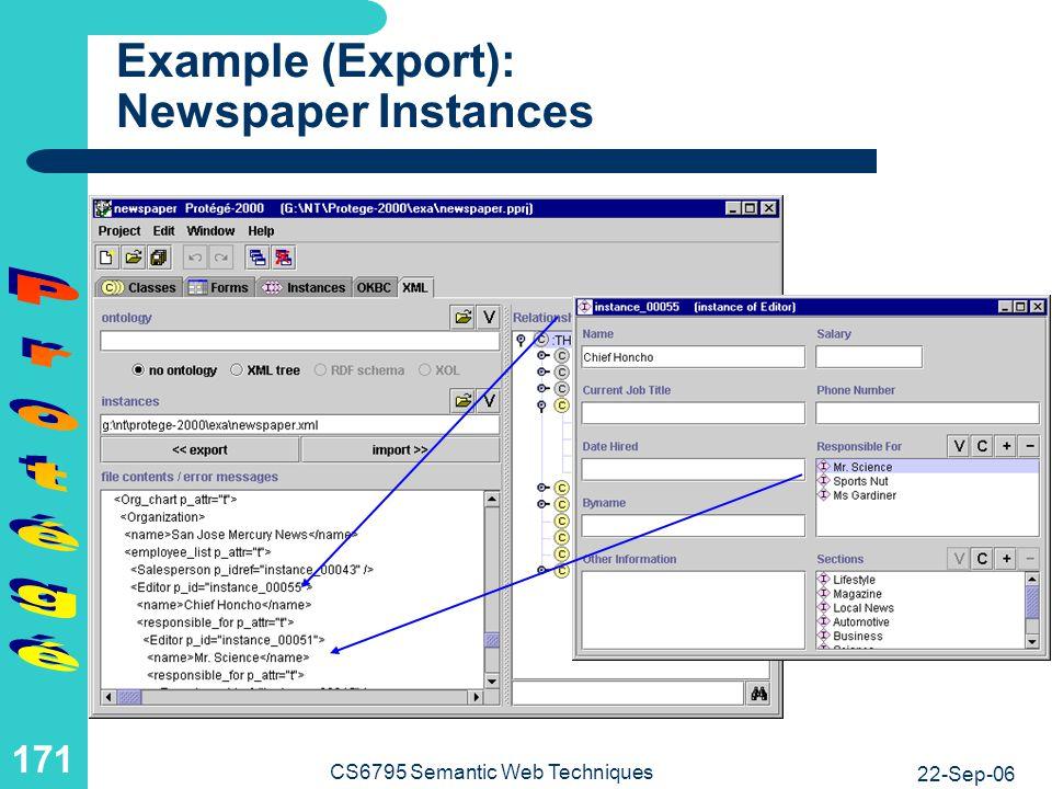 Example: Newspaper Ontology As XML Tree