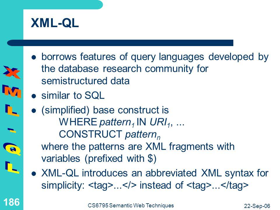 XML-QL Example 1