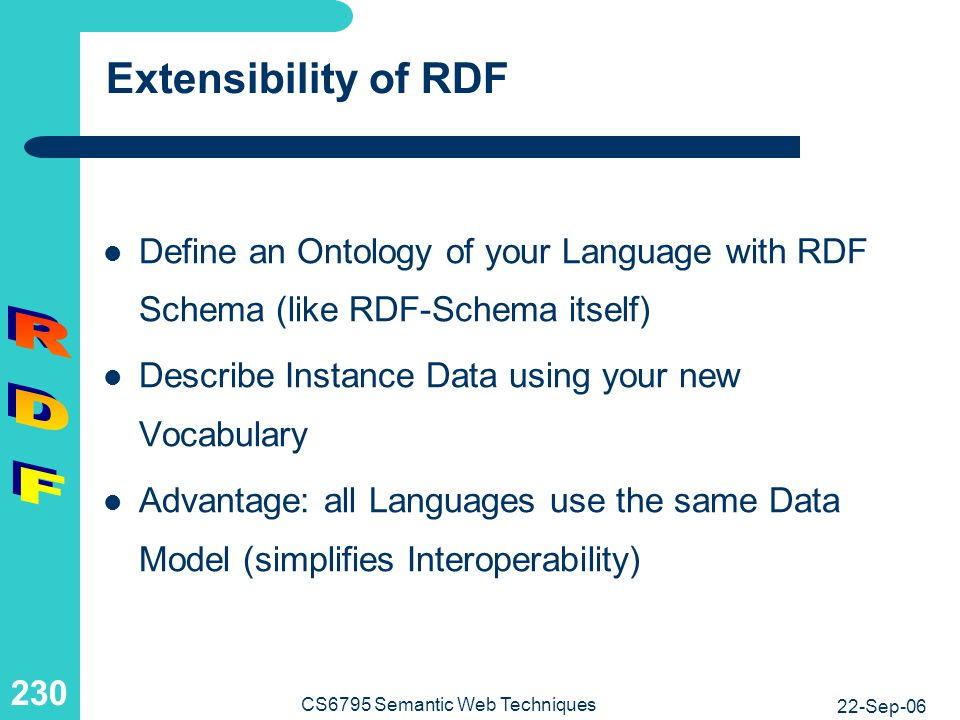 Photo Archive Using RDF: Introduction