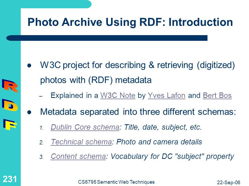 Photo Archive Using RDF: Sample Photo