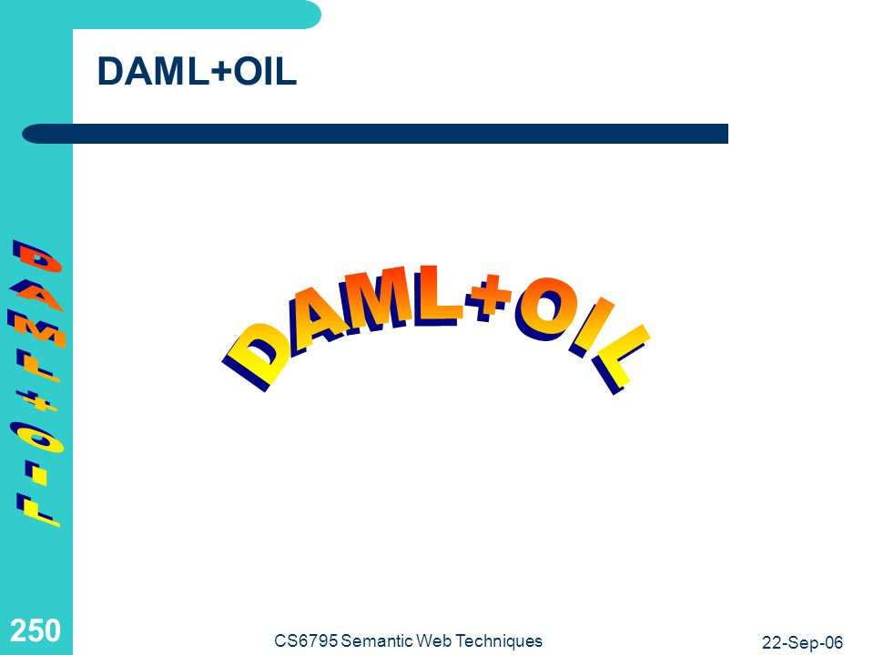 DARPA Agent Markup Language, OIL, and OWL