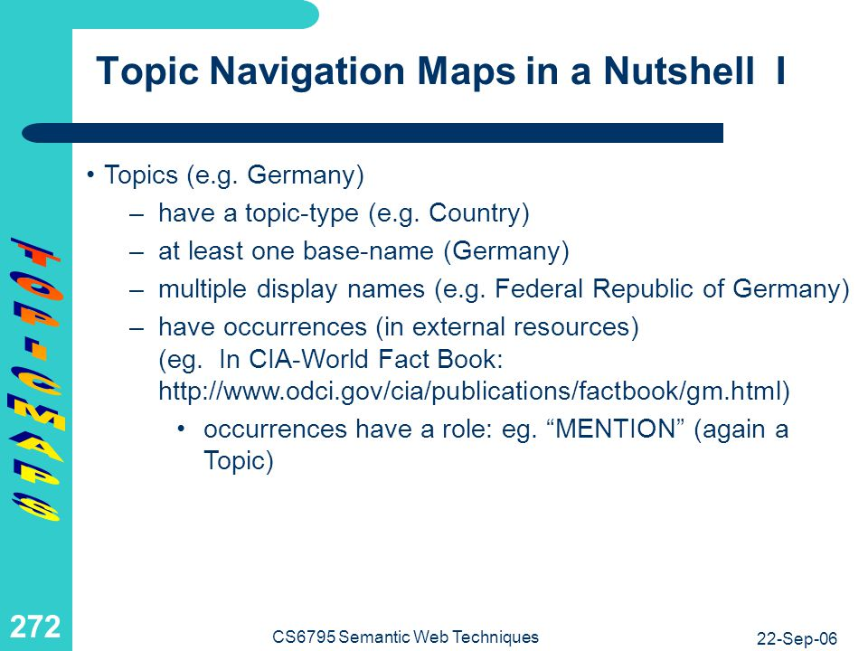 Topic Navigation Maps in a Nutshell II