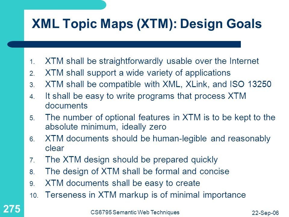 XML Topic Maps (XTM): Purpose of a Topic Map