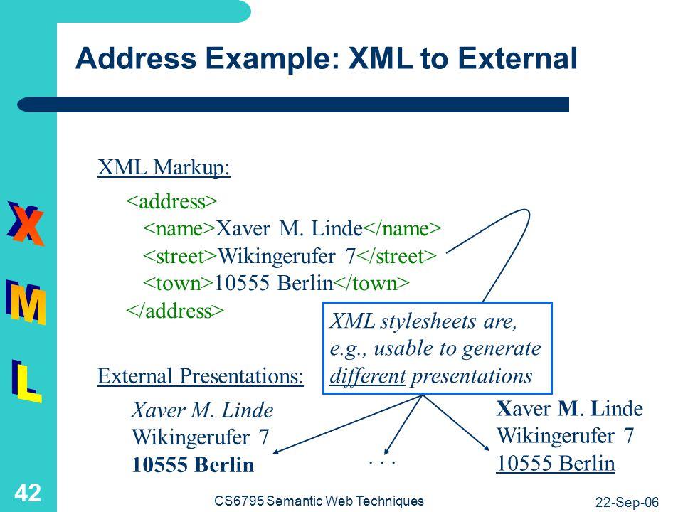 Address Example: XML to XML
