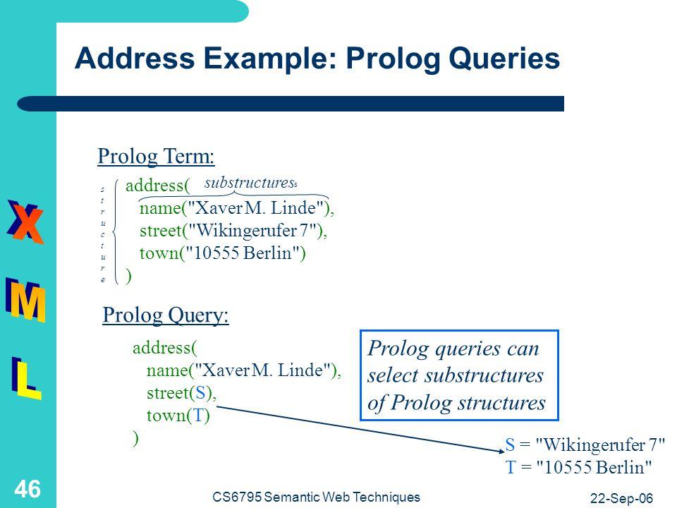 Address Example: The Element Tree