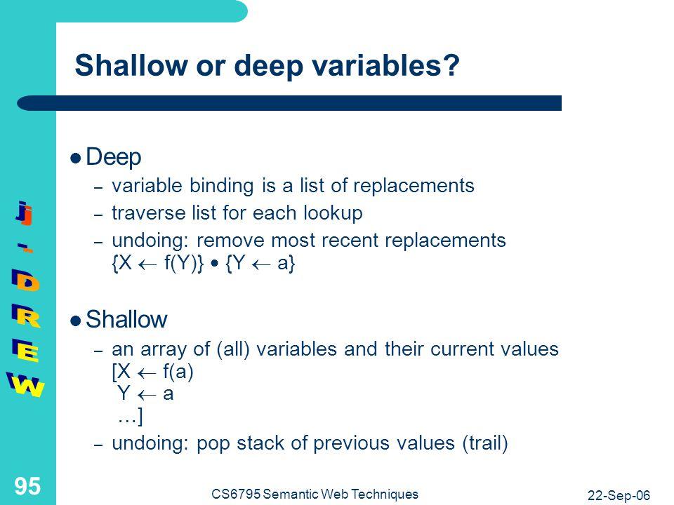 Choosing between shallow and deep