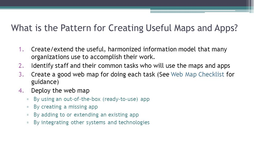 What is the Pattern for Creating Useful Maps and Apps