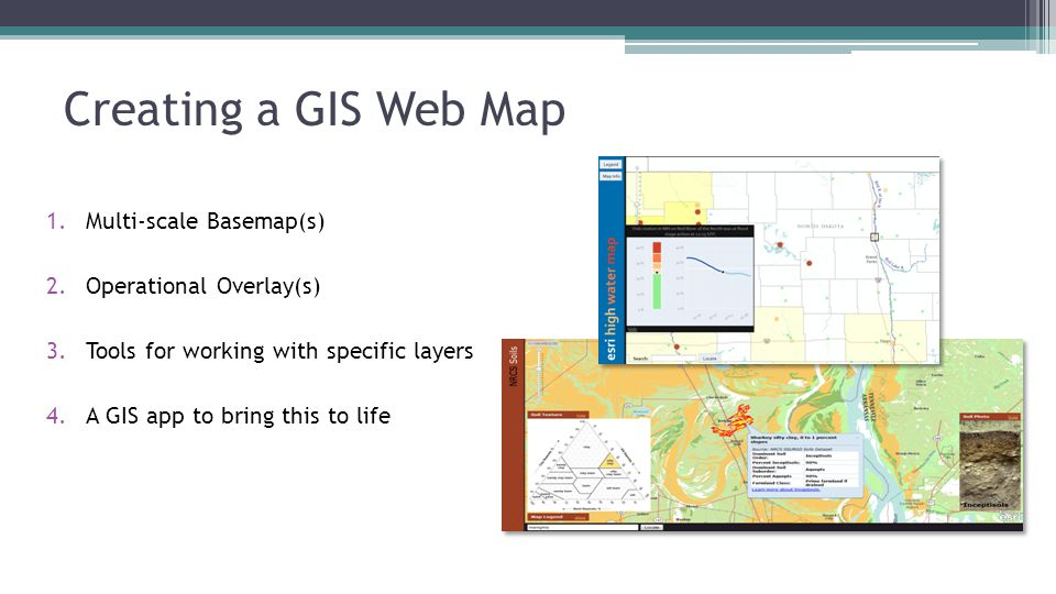Creating a GIS Web Map Multi-scale Basemap(s) Operational Overlay(s)