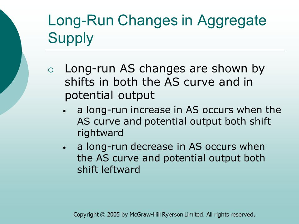 Long-Run Changes in Aggregate Supply