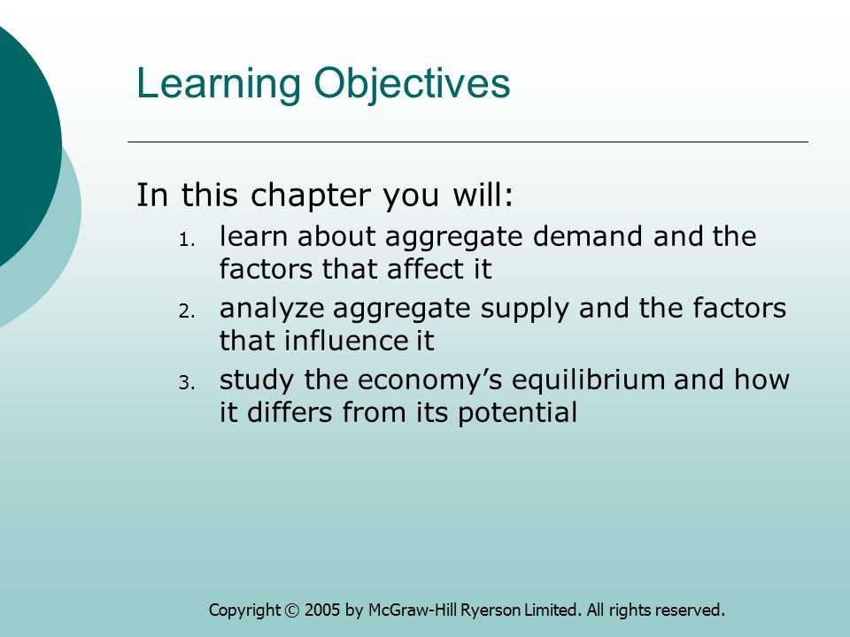 Learning Objectives In this chapter you will: