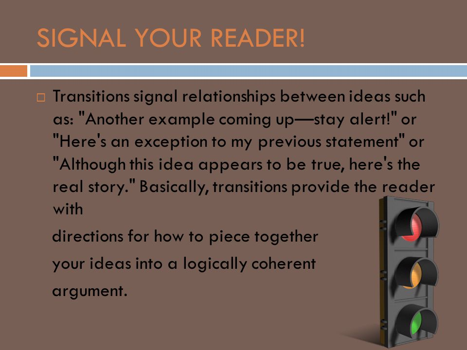 SIGNAL YOUR READER!