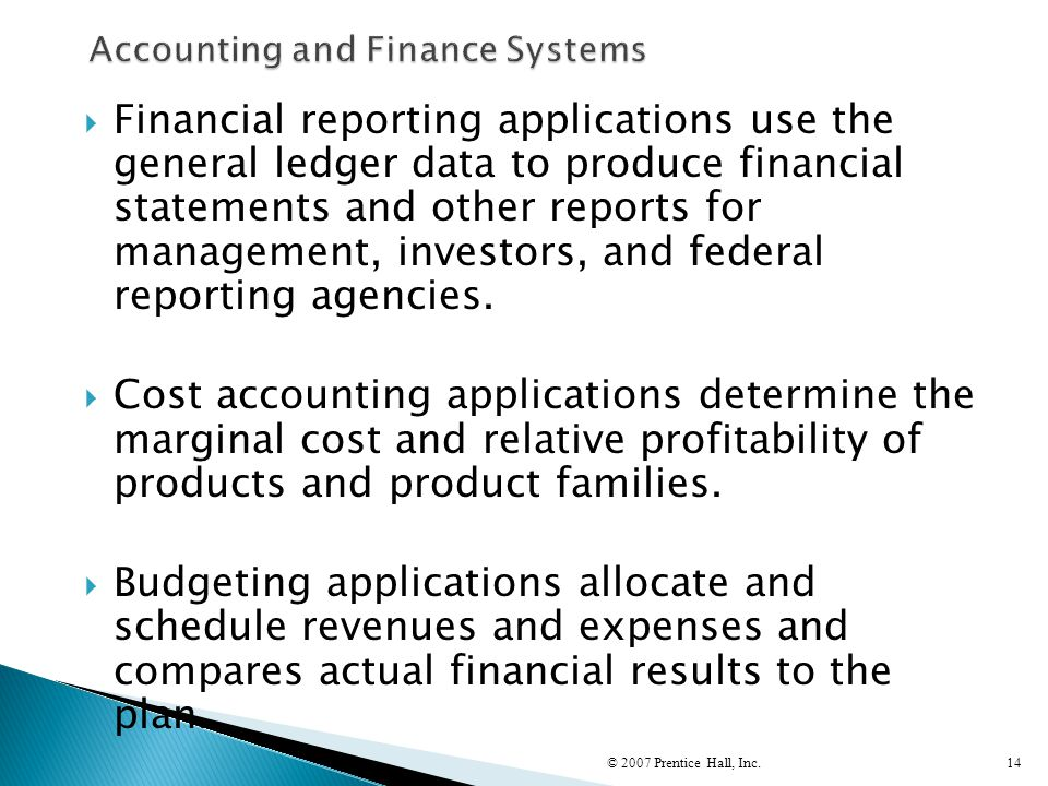 Accounting and Finance Systems