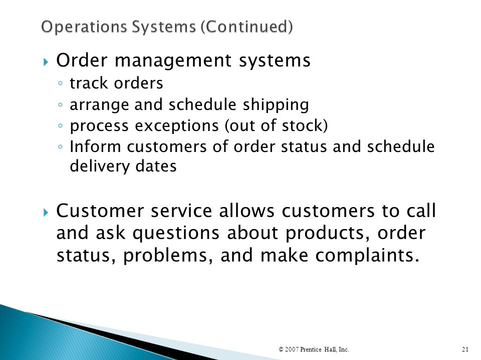 Operations Systems (Continued)