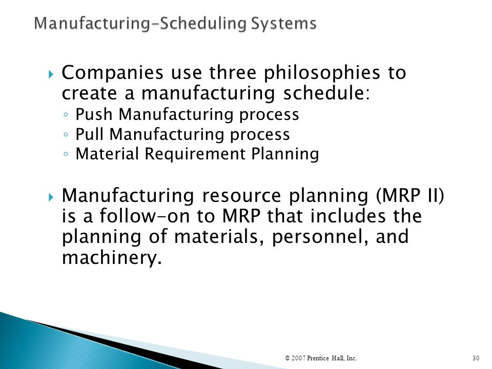 Manufacturing-Scheduling Systems
