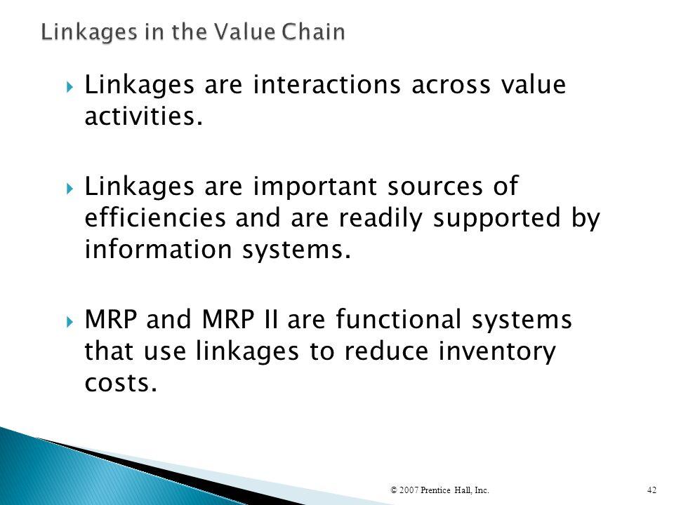 Linkages in the Value Chain