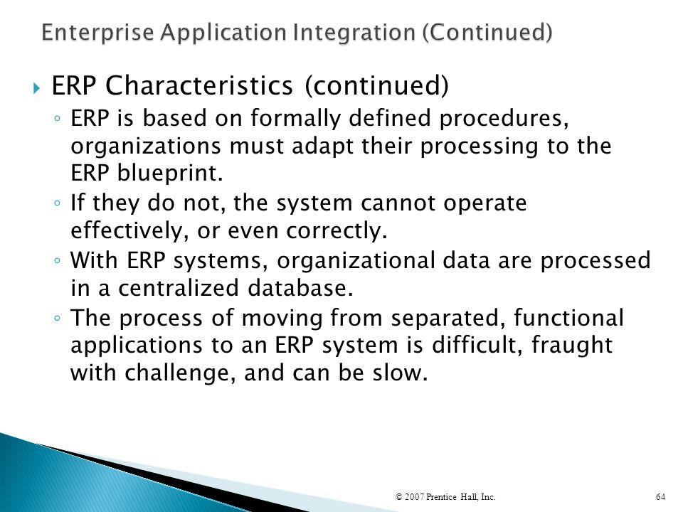 Enterprise Application Integration (Continued)