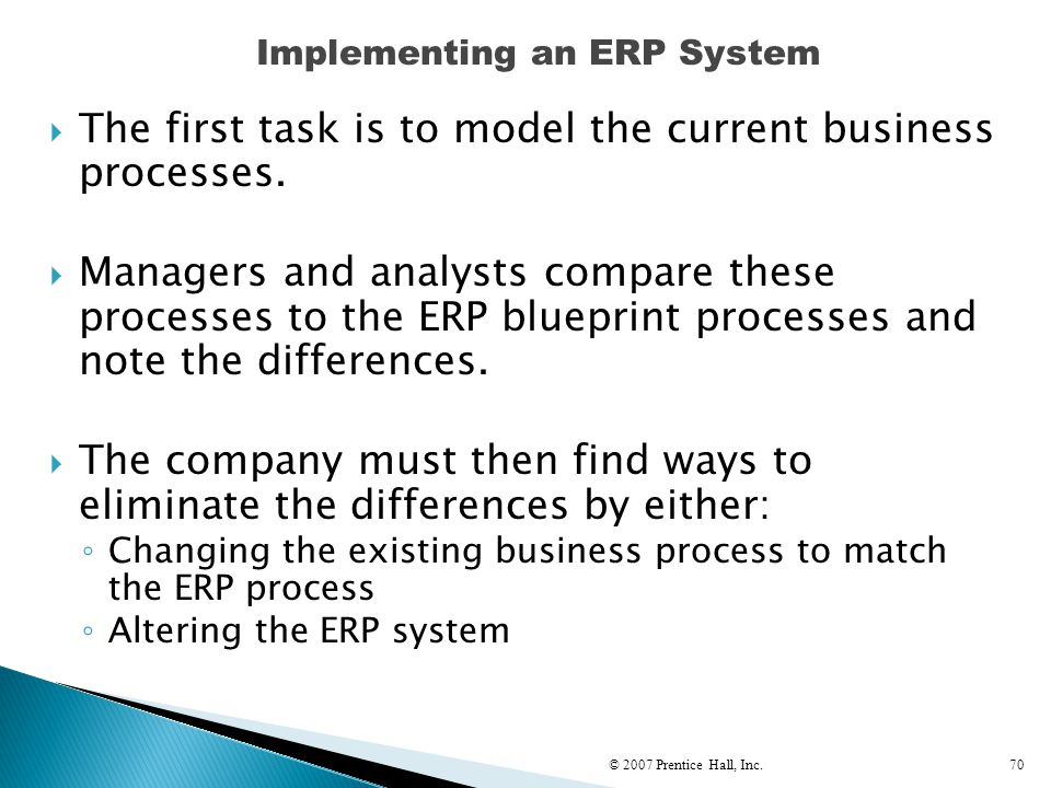 Implementing an ERP System