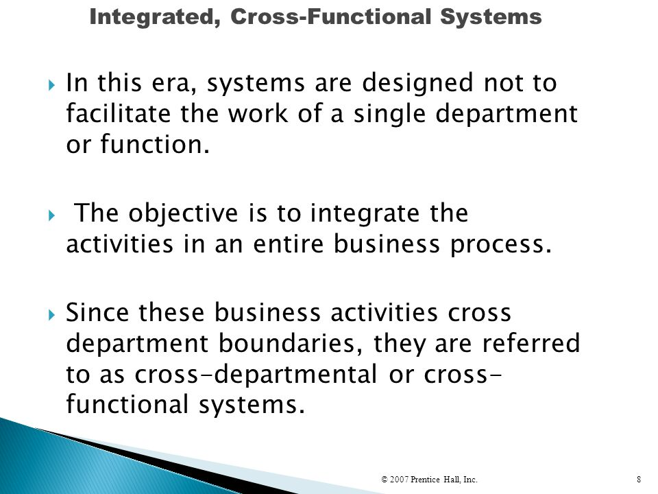 Integrated, Cross-Functional Systems