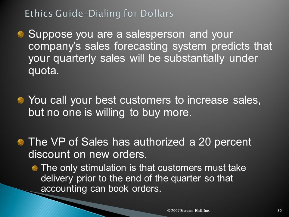 Ethics Guide–Dialing for Dollars