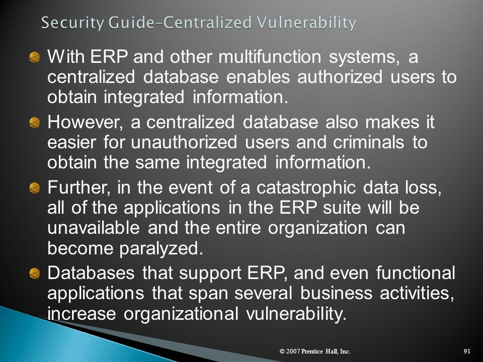 Security Guide–Centralized Vulnerability