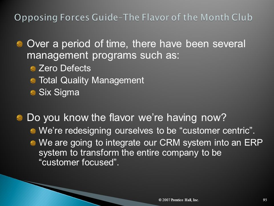 Opposing Forces Guide–The Flavor of the Month Club