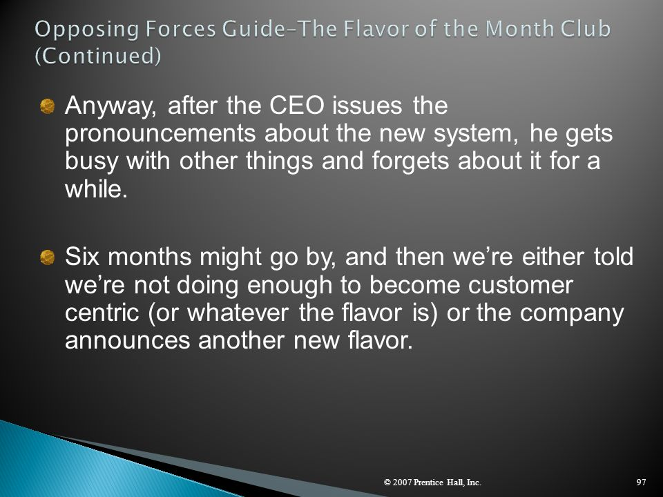Opposing Forces Guide–The Flavor of the Month Club (Continued)