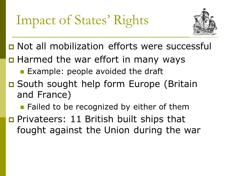 Impact of States' Rights