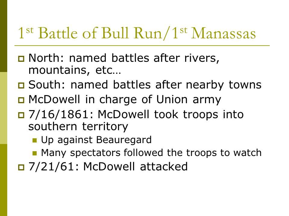 1st Battle of Bull Run/1st Manassas